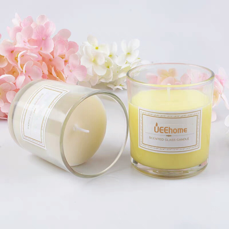 Transparent Glass Jar Cinnamon Scented Soy Wax Candles