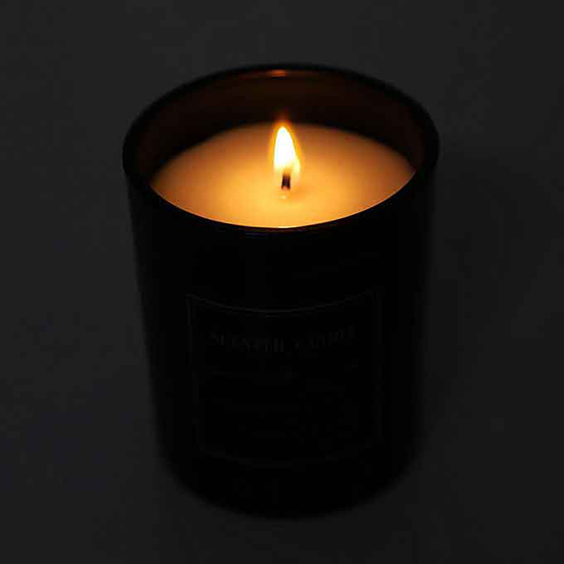 Bulk Black Jar Strong Christmas Scented Soy Wax Candles