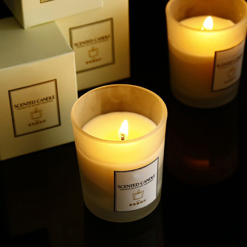 Wholesale Luxury Frosted Glass Jar Scented Candles
