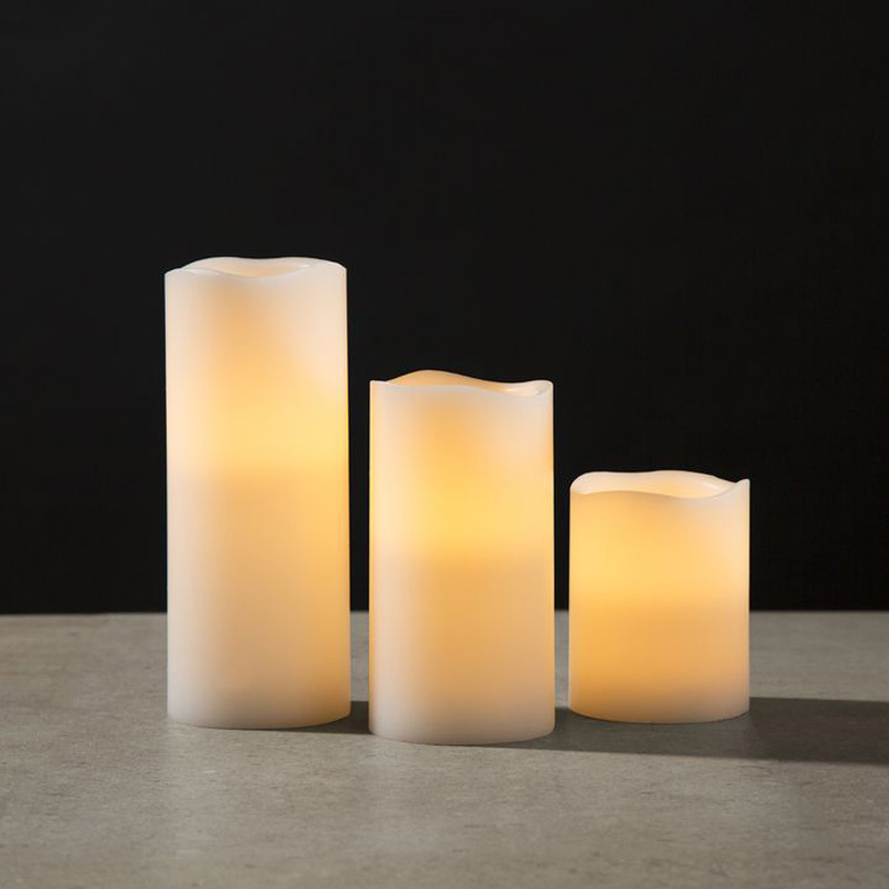 White Inglow Flameless 3x4