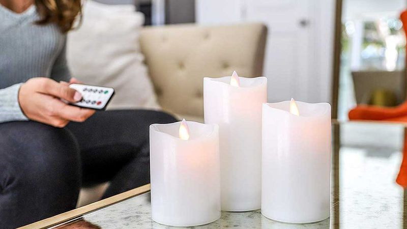 flameless candle, flameless candles outdoors