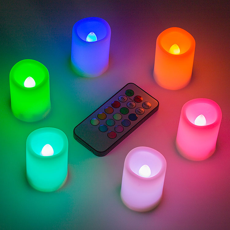 realistic flameless candles, color changing led candles