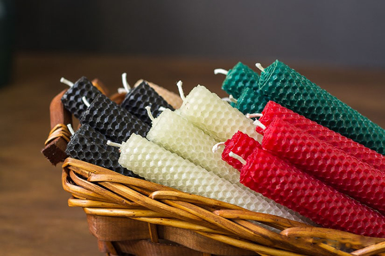 rolled beeswax candles, beeswax candles