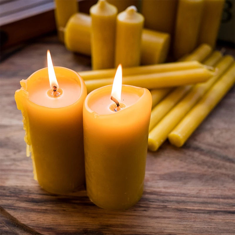 pure beeswax candles, organic beeswax candle