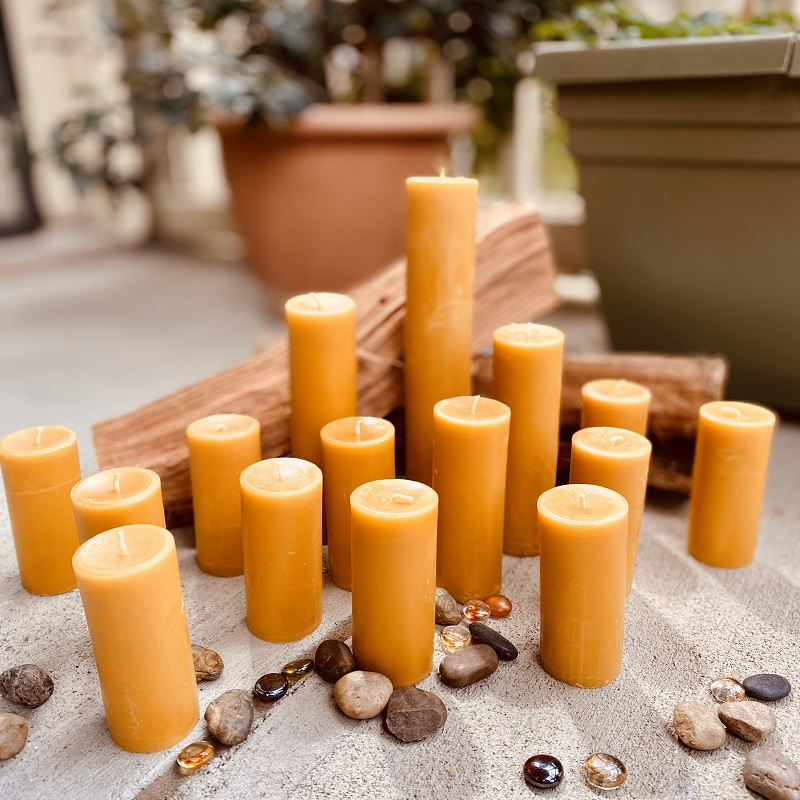 pure beeswax candles, wholesale beeswax pillar candles