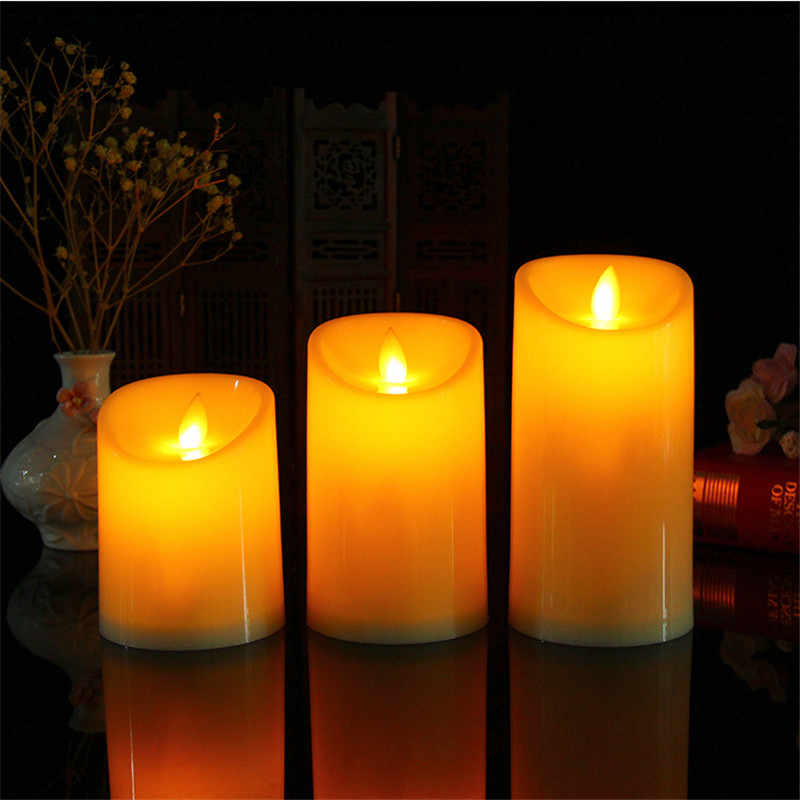 Moving flame battery operated candles, dancing flame led candles with remote