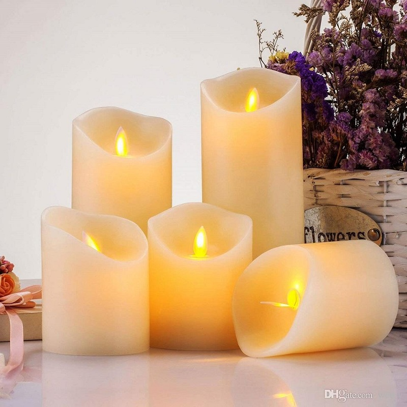 outdoor led flameless candles, moving wick led candles, outdoor electric candle manufacturer