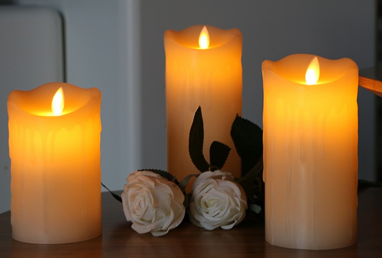 moving wick led candles, led flameless candles, moving wick flameless candles