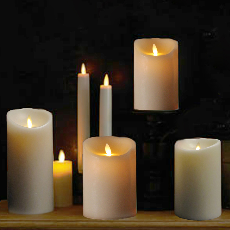 Led flameless candles, battery operated candles with remote, LED candles