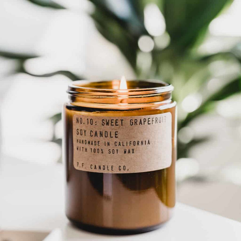 Sweet Grapefruit Scented Luxury Candles Wholesale With Custom Glass Jar Logo