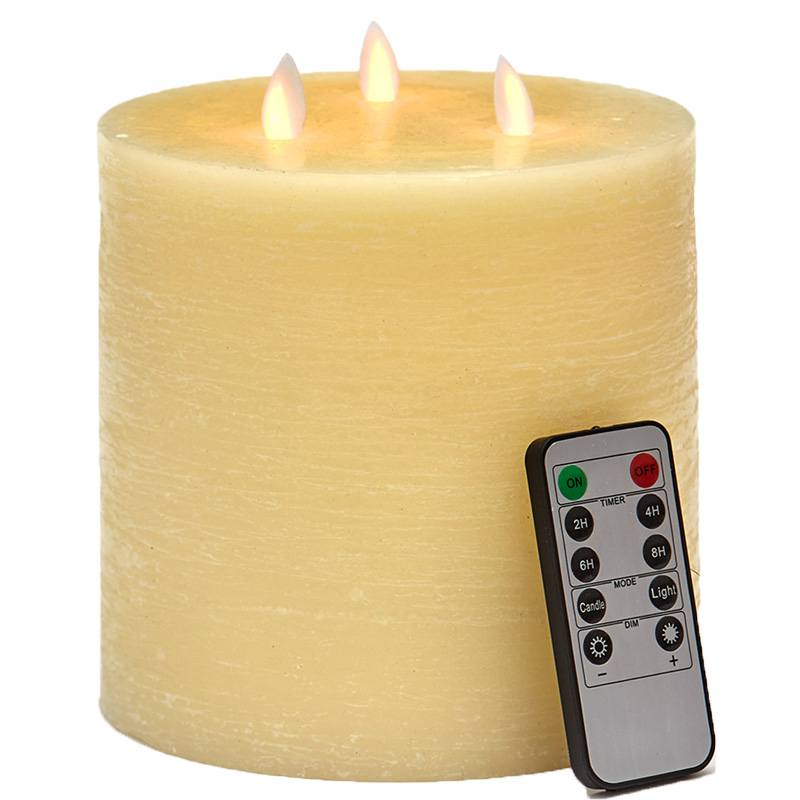 3-Wick LED Scented Candle with Remote Control