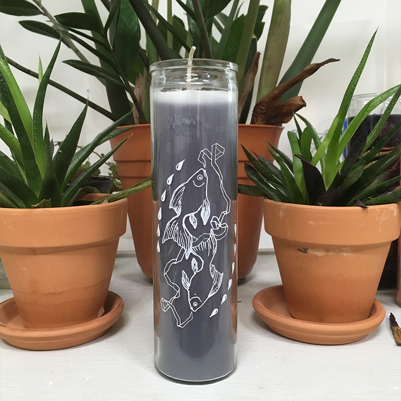 Pisces hand-poured coconut wax 7 day prayer candles