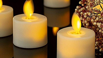 Bulk Battery Operated Flickering LED Tea Light Candles at Ueehome