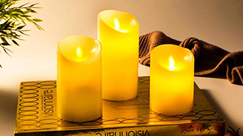 Ueehome Moving Wick Flameless Candles Instructions for Use