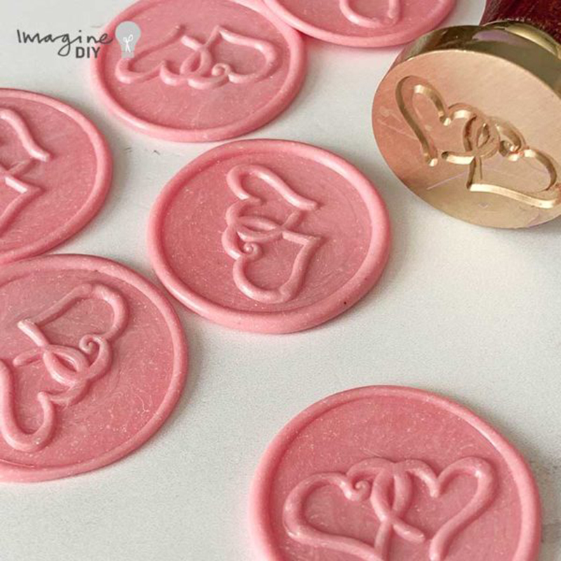 Entwined Heart Wax Seal Stamp