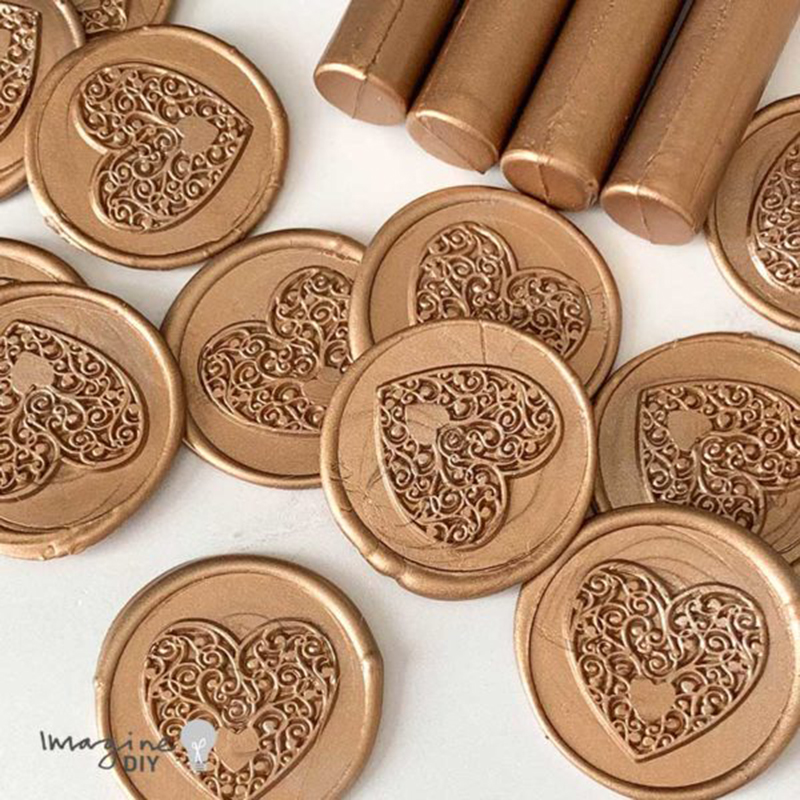 Warm Gold Sealing Wax Sticks