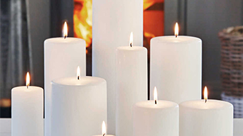Our stylish white pillar candles are made in China