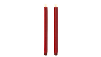 We supply various flameless taper candles