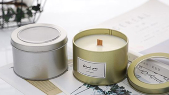 You will get personalised tin box candles for your home