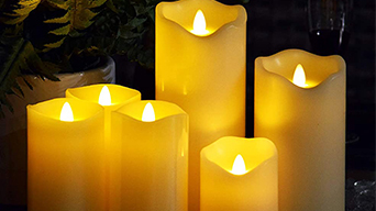 How to use the scented led flameless candles?