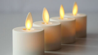 How do you use led battery operated candles in a home decoration?