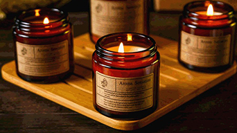 Popular fragrances introduction of scented candles in glass jar