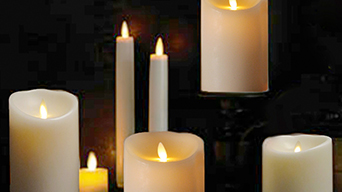 Decorative lighting with led flameless candles