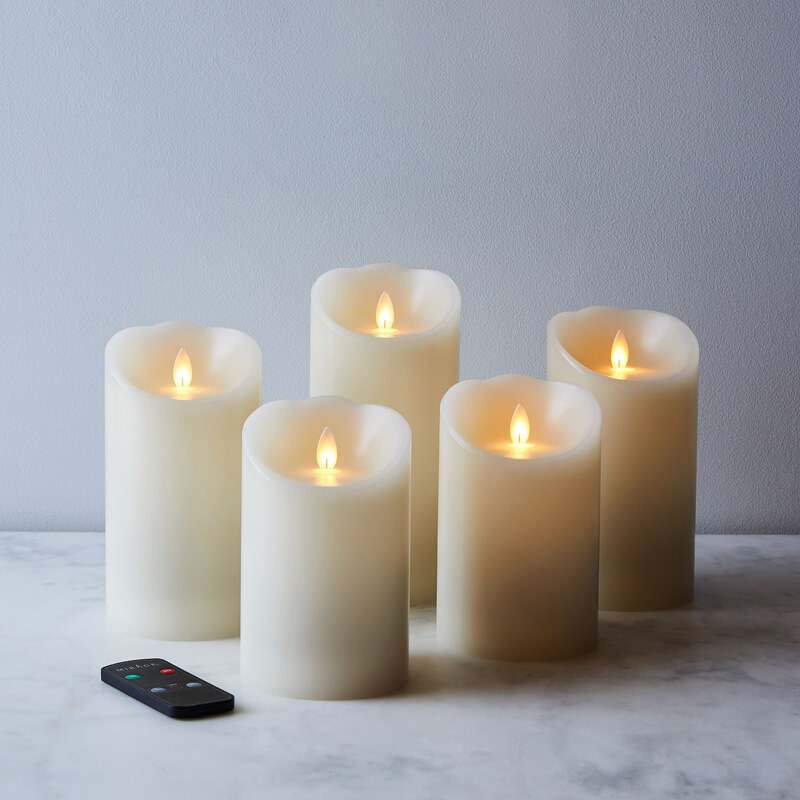 Battery Operated Electric Fake Led Flameless Candles with Moving Wick