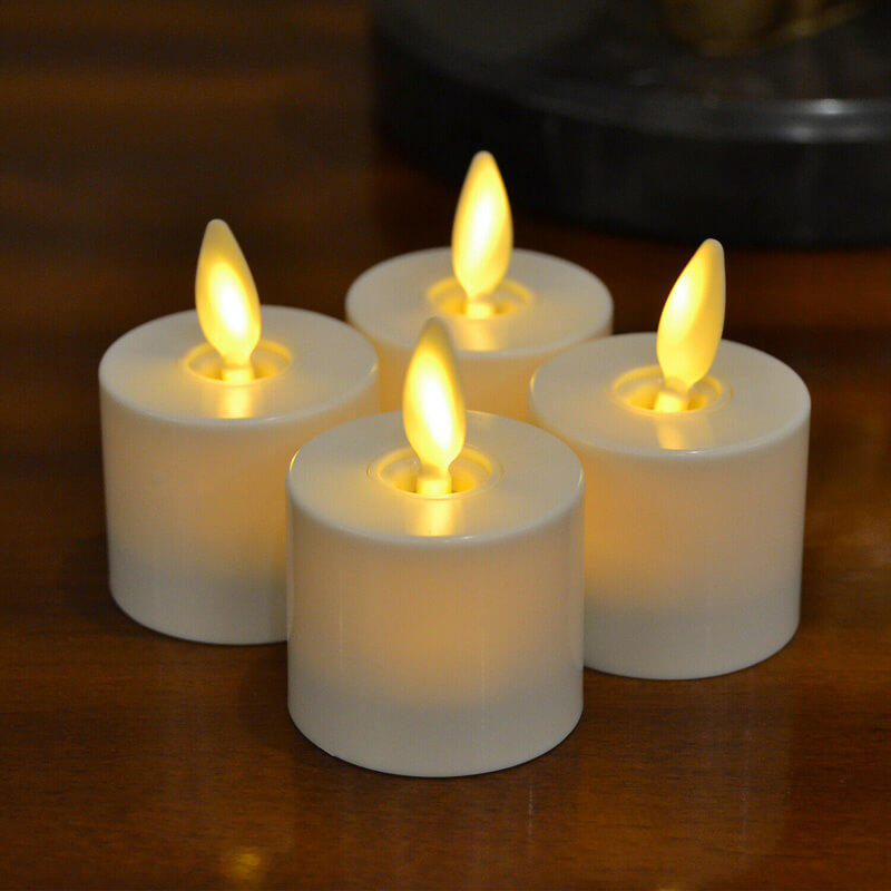 Bulk Realistic LED Flameless Tealight Candles with Remote