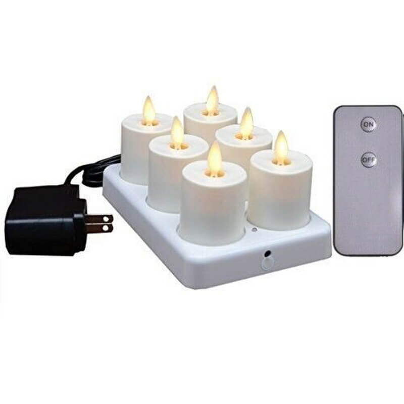 Plastic Led Flameless Tealight Candles with Timer Control