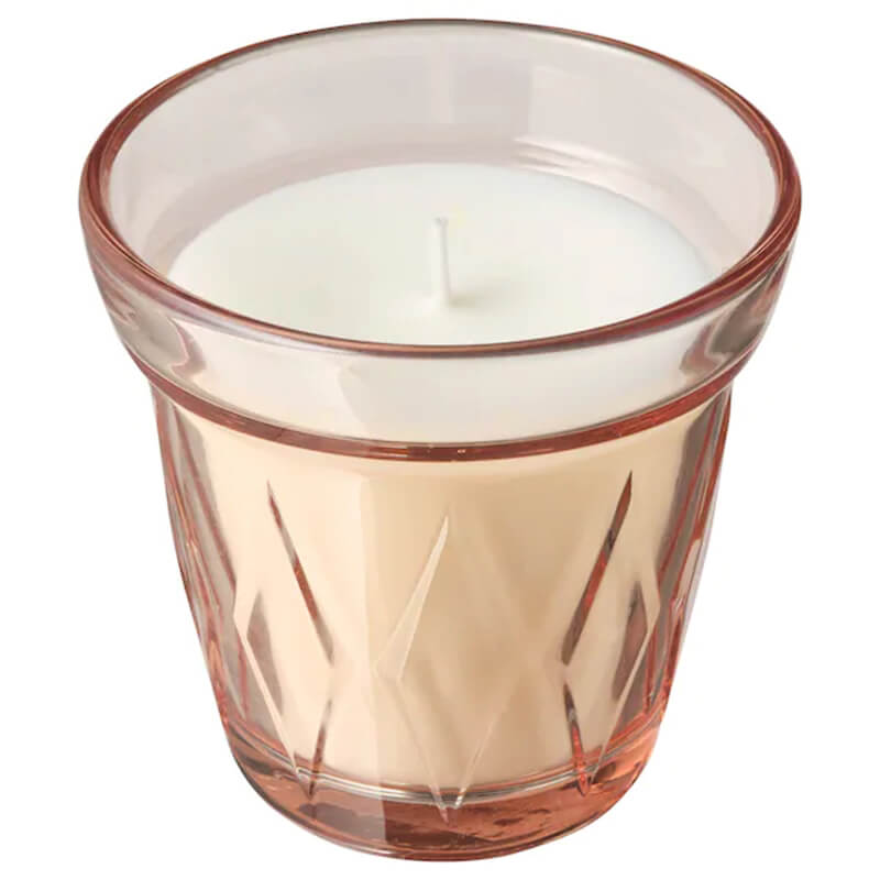 Paraffin Wax Fragrance Scented Candles in Glass with Tinted Lacquer