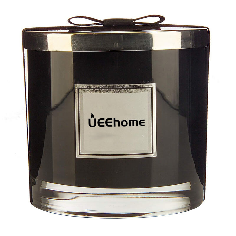 Online Cheap Nice Black Scented Candles Gift for Home Decoration