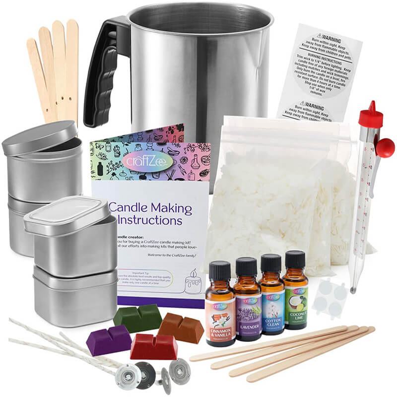 Compelete DIY candle making kit supplies
