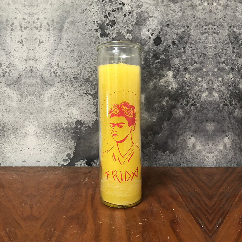 Frida Kahlo pain and passion hand printed 7 day prayer candles