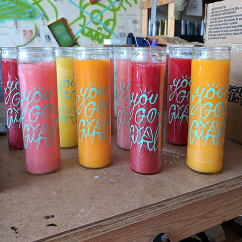 You Go Girl 7 day glass candles wholesale