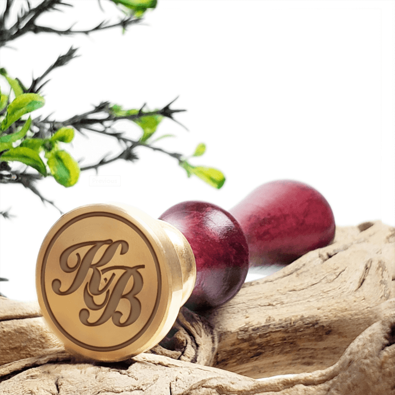 Intertwined Monograms Wax Seal Stamps