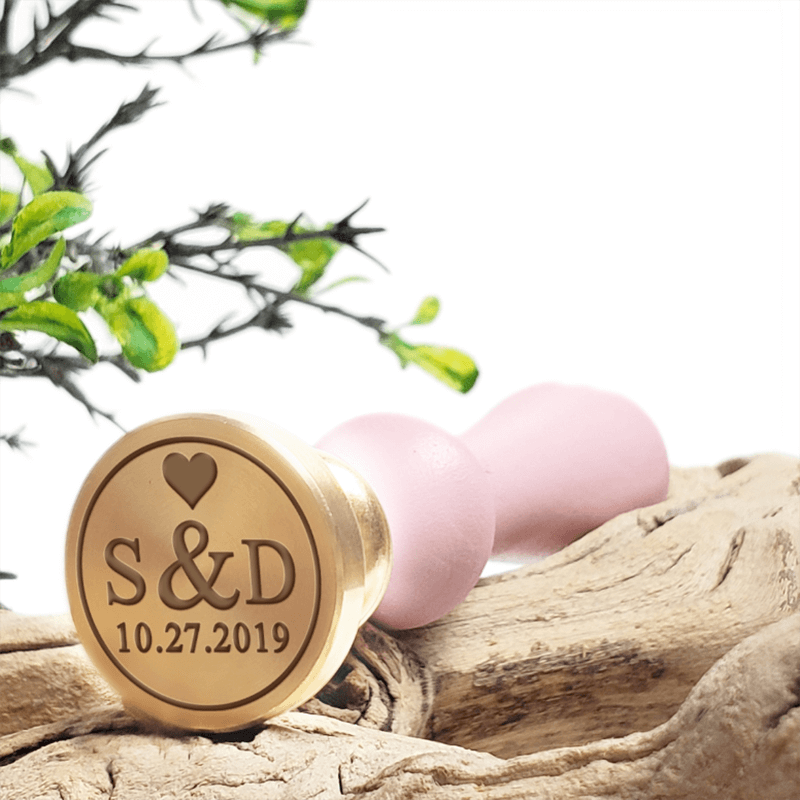 Wedding Names Wedding Dates Wax Seal Stamps