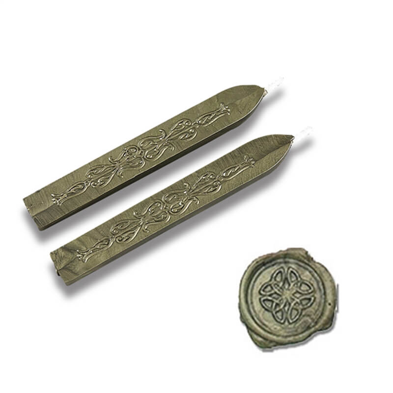 Moss Green Flexible Sealing Wax-Pack of 2 sticks