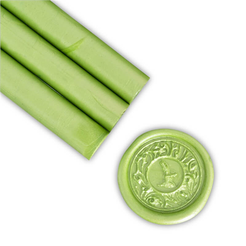 Lime Green Pearl Glue Gun Sealing Wax
