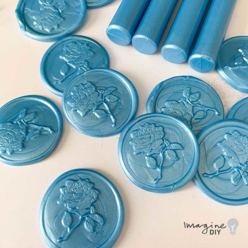 Blue Lustre Sealing Wax Sticks