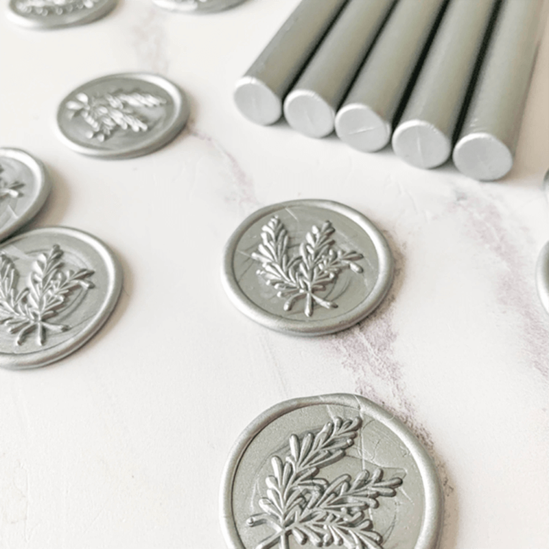 Light Silver Sealing Wax Sticks