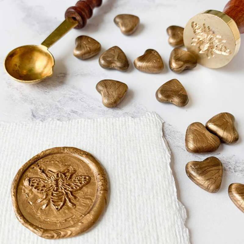Warm Gold Sealing Wax Beads